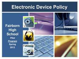 Electronic Device Policy
