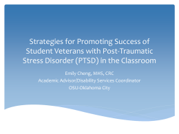 Strategies for Promoting Success of Student Veterans with Post