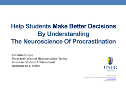 Helping Students Make Better Decisions By Understanding The