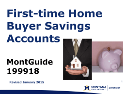 First-Time Homebuyers Savings Accounts