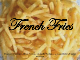 French+Fries+powerpoint+project