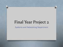 Final Year Project 2 - SN Department_Sem2 - 2014-2015