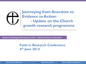 Church Growth Research update Kevin Norris
