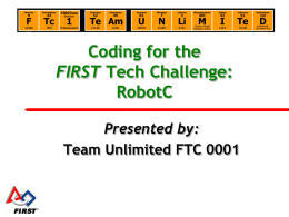 RobotC - Home of Team Unlimited