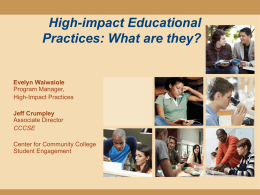 High-impact Educational Practices: What are they?