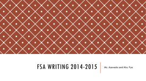 FSA Writing 2014-2015