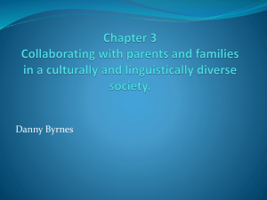 Chapter 3 Collaborating with parents and families in a culturally and