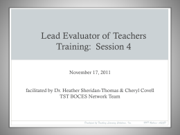 Lead Evaluator Training Session 4 (PPT)