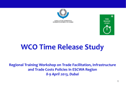 WCO Time Release Study
