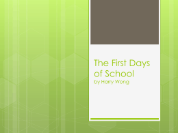 The First Days of School powerpoint - CI204