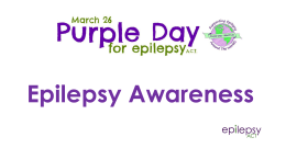 Purple day presentation for High Schools