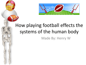 Football Power Point Human Body Henry W