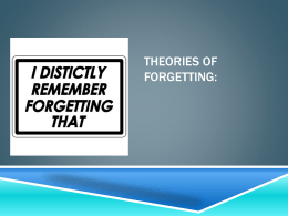 Strengths and limitations of theories of forgetting: