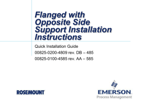 Flanged Annubar Installation Instructions