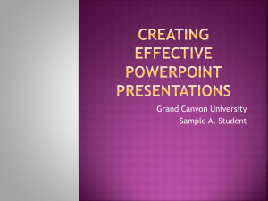 Creating Effective PowerPoint Presentations