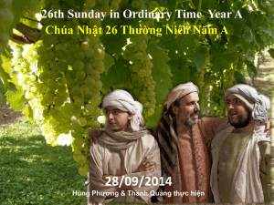 26th Sunday in Ordinary Time Year A Chúa Nhật 26