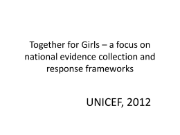 Together for Girls: A Focus on National Evidence