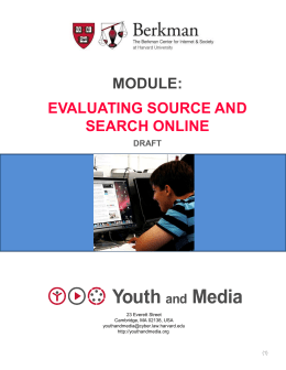 Evaluating Source and Search Online