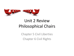 Unit 2 Review Philosophical Chairs