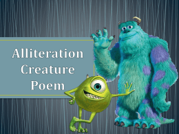 Alliteration Creature Poem