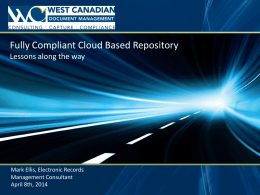 Fully Compliant Cloud-Based Repository