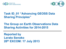 "Task ID_01 ""Advancing GEOSS Data Sharing Principles"""