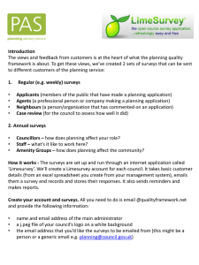 Applicant - Planning Advisory Service