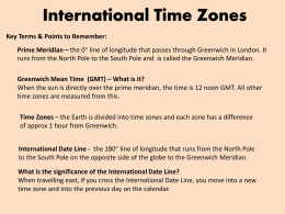 Lesson 4 - International Time Zones