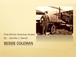 Bessie Coleman - Bad Example