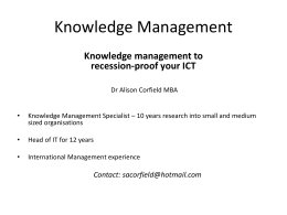 KnowledgeManagement2012