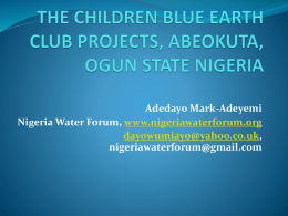 the children blue earth club projects, abeokuta, ogun state nigeria