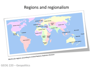 GEOG220 Lecture13 - Regions and regionalism