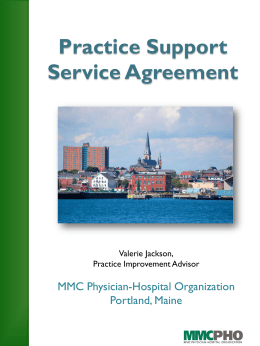 MMC PHO Practice Coaching Agreement