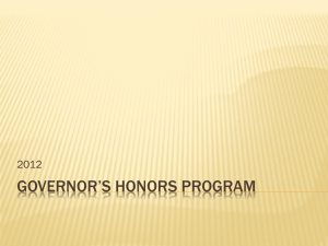 Governor*s Honors Program