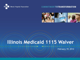 IHA PowerPoint Presentation on 1115 Waiver Application