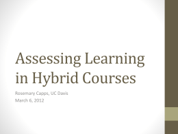Interaction in Hybrid Courses