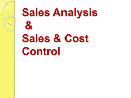 Sales Control and Cost Analysis PPT 6