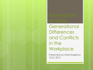 Generational Differences and Conflicts in the Workplace