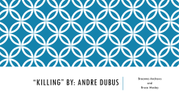 *Killing* By: Andre Dubus