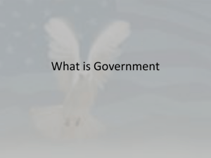 Forms and Foundations of Government