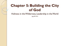 Chapter 5: Building the City of God