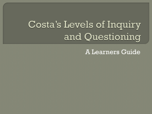 Costa`s Level of Inquiry