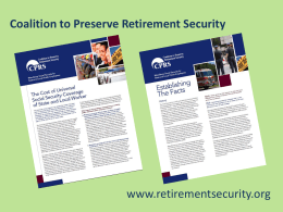 addressed - Coalition to Preserve Retirement Security