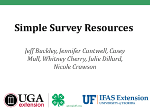 Simple Survey Resources PowerPoint Presentation - Georgia 4-H