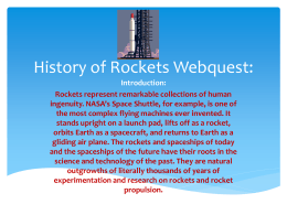 History of Rockets Webquest