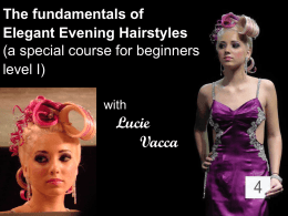 Elegant Evening Hairstyles (course for beginners)