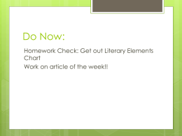 Lit Element Review & Assessment Overview