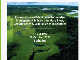 Cooperation with NGOs on Knowledge Management