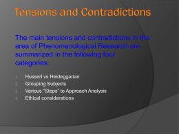 Phenomenology- Presentation