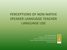 link to the slides - language for teaching purposes